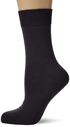 KUNERT Damen Socken Soft Wool Cotton, 100 Den, Blau (Marine 0350), 39/42 von KUNERT