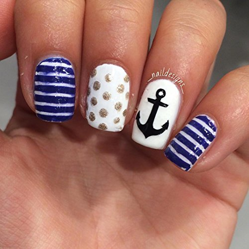 At Sea Anker anchor Nail Stickers Nagel-Aufkleber von Kaz Creations