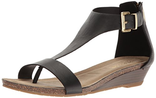 Kenneth Cole REACTION Damen Gal T-Strap Wedge Keilabsatz-Sandale, schwarz, 37 EU von Kenneth Cole REACTION
