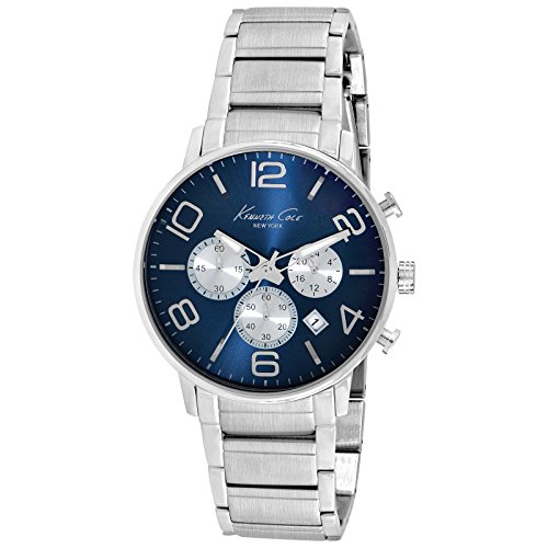 Kenneth Cole Dress Sport Herren Chronograph silber/blau KC9305 von Kenneth Cole New York