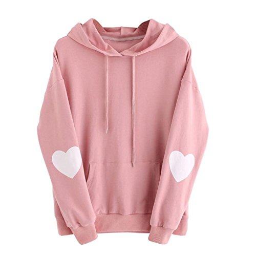 d404463f3e Sweatshirt damen Kolylong® Frauen Elegant Drucken Sweatshirt mit kapuze  Herbst Winter Warm Hooded Pullover Locker