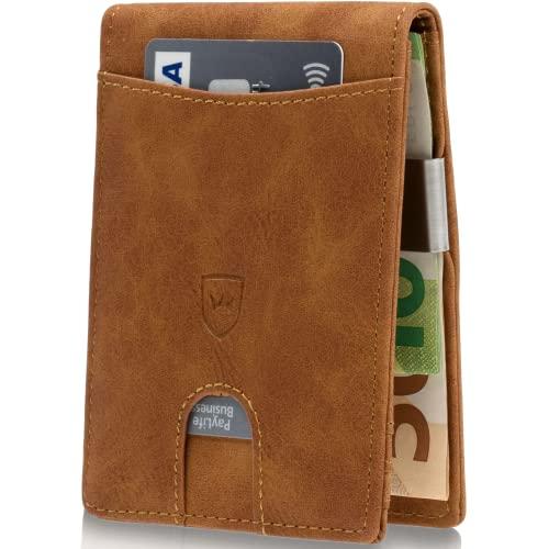 1e4c8967ecd26 Kronenschein® Premium Herren Portemonnaie Geldbeutel mit Geldklammer  Portmonee Männer Geldbörse RFID Slim-Wallet Brieftasche