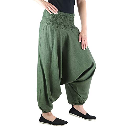 Femmes Sarouel Pantalon Bouffant Aladinhose Pluderhose Baggy Goa Ballonhose sarouelhose