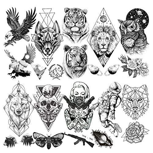 Tattoos männer arm löwe