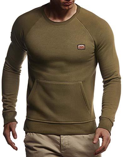 Schwarzer M/änner Longsleeve LN8117 Jungen Hoodie T-Shirt Langarm Oversize d/ünner Pulli Sweatshirt Langarmshirt LEIF NELSON Herren Pullover V-Ausschnitt Slim Fit