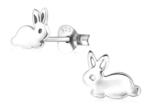 Laimons M/ädchen Kids Kinder-Ohrstecker Ohrringe Kinderschmuck Giraffe Kopf oxidiert glanz aus Sterling Silber 925