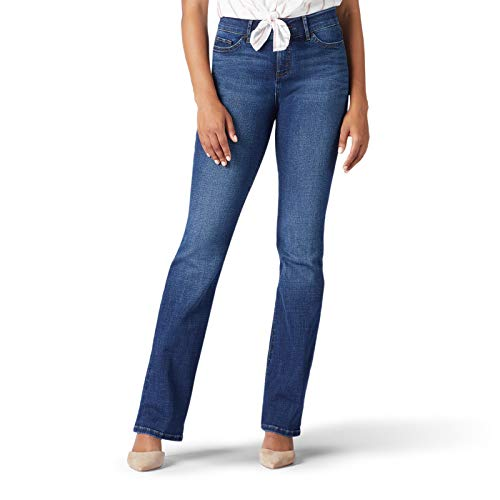 Lee Damen Flex Motion Regular Fit Bootcut Jeans, Türkis (Cascade), 38 Kurz von Lee