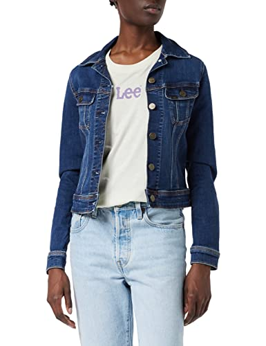 Lee Damen Slim Rider Jeansjacke, Blau (Dark Hunter Hw), X-Small von Lee