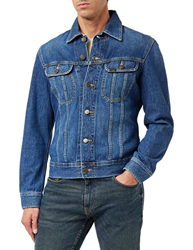 Lee Herren Slim Rider Jeansjacke, Blau (Flick Dark Ka), Medium von Lee