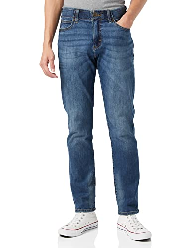 Lee Herren Extreme Motion Straight Pants, Blau (Maddox Pu), 32W / 34L von Lee