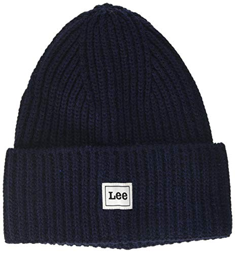 Lee Homme Rib Beanie Strickmütze, Bleu (Navy 35), Taille Unique von Lee