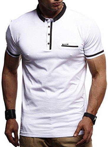 Leif Nelson Herren Sommer T-Shirt Rundhals Ausschnitt Slim Fit Baumwolle-Anteil Cooles wei/ßes schwarzes Basic M/änner T-Shirt Crew Neck Jungen Kurzarmshirt O-Neck Kurzarm Sleeve Top Lang LN8294