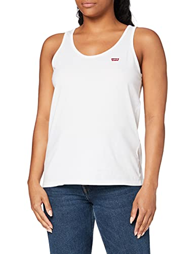 Levi's Damen Tank Top Regular Fit, Weiß (White + 0000), Medium von Levi's