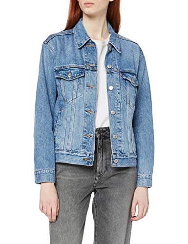 Levi's Damen Ex-Boyfriend Trucker Jeansjacke, Blau (Soft As Butter Mid 0055), Medium von Levi's