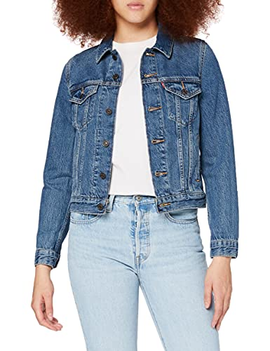 Levi's Damen Original Trucker' Jeansjacke, Blau (Soft As Butter Dark 0063), L von Levi's