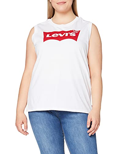Levi's Damen On Tour Sport Top, Weiß (Red Hsmk Tank White 0022), Small von Levi's