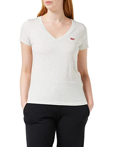 Levi's Damen Perfect Vneck T-Shirt, Orbit Heather Gray, XS von Levi's