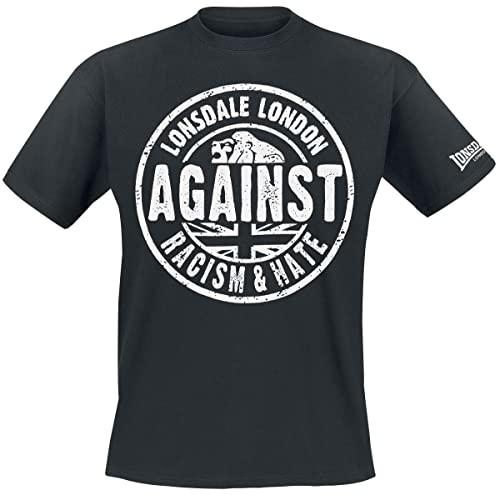 a1b0b49de6ca Lonsdale Herren Langarmshirt T-Shirt Trägerhemd Against Racism schwarz  (Schwarz) Small von Lonsdale