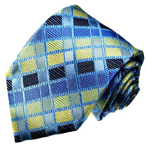 Lorenzo Cana Luxuri/öse Marken Krawatten mit Punkten Business Seidenkrawatte Markenkrawatte aus 100/% Seide