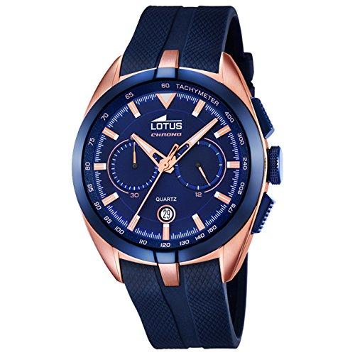 Lotus Herren Chronograph Quarz Uhr mit Plastik Armband 18190 2 von Lotus 1d99609374