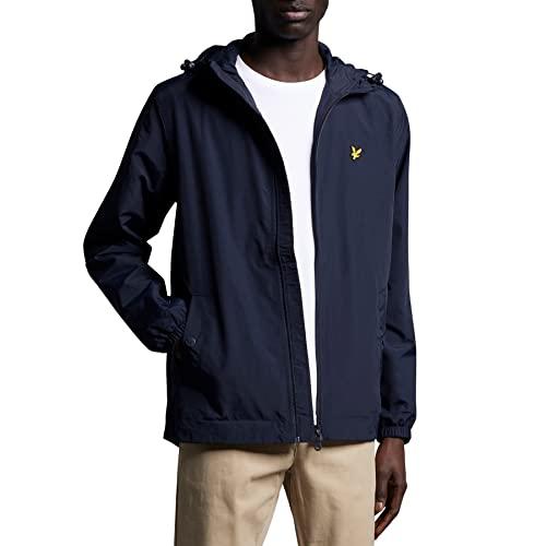 63a2584dd8fd80 Lyle & Scott Herren Zip Through Hooded Jacket Jacke, Blau (Dark Navy Z271)