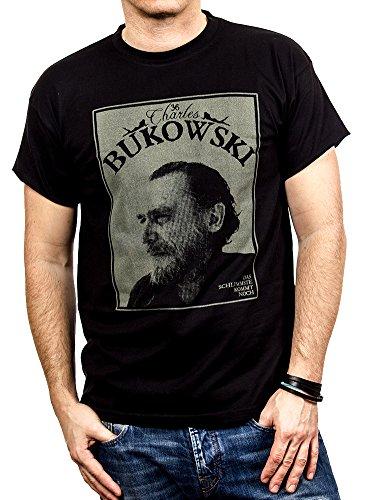 1d5ed786c57c4c Retro Kult T-Shirt für Herren CHARLES BUKOWSKI schwarz Größe XXXL von MAKAYA