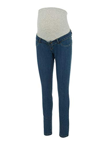 MAMALICIOUS Mama Licious Female Umstandsjeans Slim Fit 3132Medium Blue Denim von MAMALICIOUS