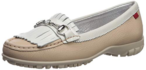 MARC JOSEPH NEW YORK Damen Leder Made in Brazil Lexington Golfschuh, Weiá (nackt körnig), 37.5 EU von MARC JOSEPH NEW YORK