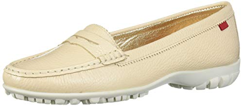 MARC JOSEPH NEW YORK Damen Leder Made in Brazil Lightweight Union Golf Performance Schuh, Braun (Beige Trommelkörnchen), 39 EU von MARC JOSEPH NEW YORK