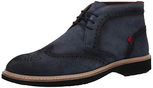 MARC JOSEPH NEW YORK Herren Leather Luxury Ankle Boot with Wingtip Detail Stiefelette, Jeans Wildleder, 44 EU von MARC JOSEPH NEW YORK