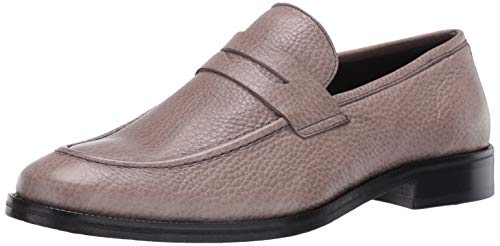 MARC JOSEPH NEW YORK Men's Gold Collection Peeny Loafer Leather Sole Penny, Grey Glaze, 10 Wide US von MARC JOSEPH NEW YORK
