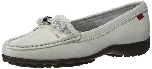 MARC JOSEPH NEW YORK Women's Leather Made in Brazil Orchard Street Golf Shoe, White Glaze, 5 M US von MARC JOSEPH NEW YORK