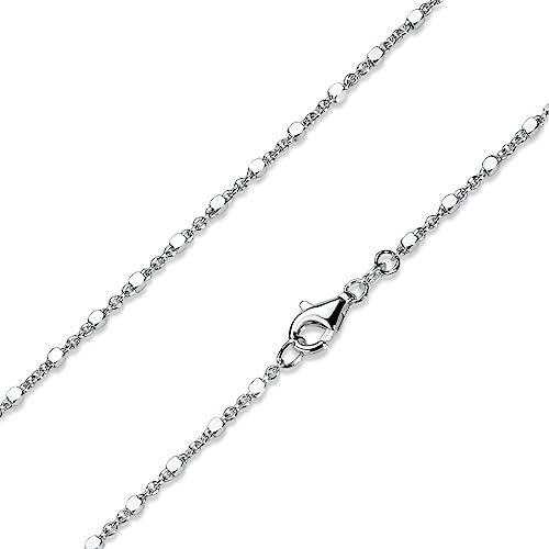 matt,gebürstet NEU 925 Silber,Anhänger Halskette Würfel Kette filigran