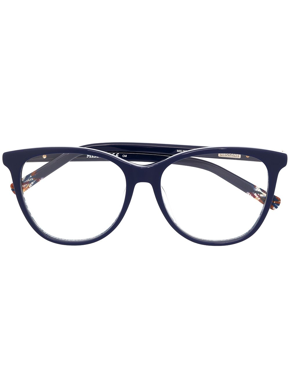 MISSONI EYEWEAR Brille mit Cat-Eye-Gestell - Blau von MISSONI EYEWEAR