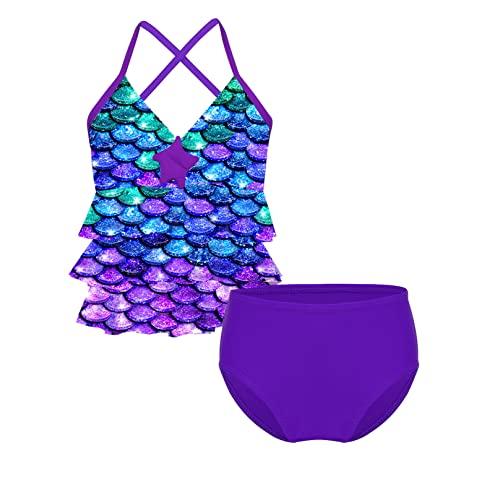 Badeanzug Bikini violett Miss Melody Pferd Bademode Tankini 2tlg