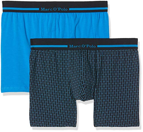 Marc O'Polo Body & Beach Herren Multipack M-Cyclist 2-Pack Boxershorts, Blau (Aquarium 813), X-Large (2er Pack) von Marc O'Polo Body & Beach