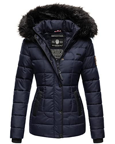0d28bc3dae0978 Marikoo warme Damen Winter Jacke Steppjacke Winterjacke gesteppt Parka B391  (XS, Blau) von