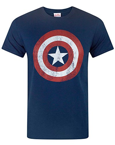 Avengers Herren Captain America T-shirt Small von Marvel