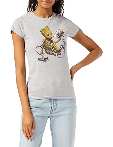Marvel Damen Guardians of The Galaxy Vol2 Groot Tape, Grau (Sports Grey SpGry) 36 (Herstellergröße: Medium)-Kapuzenpullover von Marvel