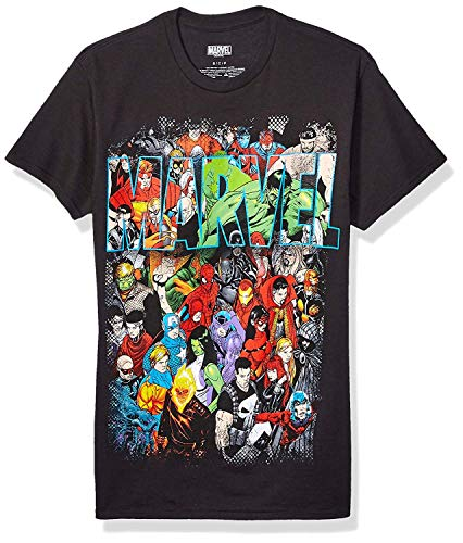 Marvel Herren Team Ups Group Shot T-Shirt - Schwarz - X-Groß von Marvel