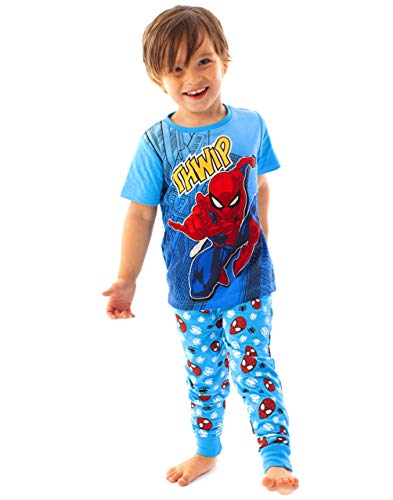 Marvel Spider-Man Pyjamas Comic Kinder Jungen Blue Long PJ Nightwear von Marvel