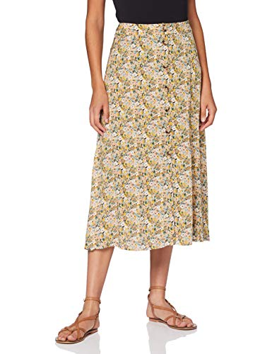 Mavi Damen Antique White Soft Ditsy Printed Rock, Weiß, L von Mavi