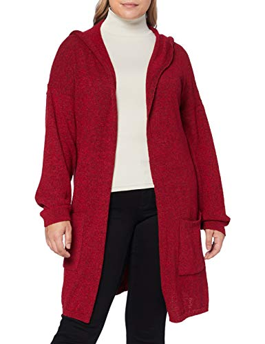 Mavi Damen Hooded Cardigan Strickjacke, Rio red, S von Mavi