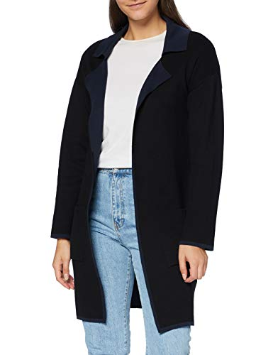 Mavi Damen Long Cardigan Strickjacke, Black-Navy, XL von Mavi