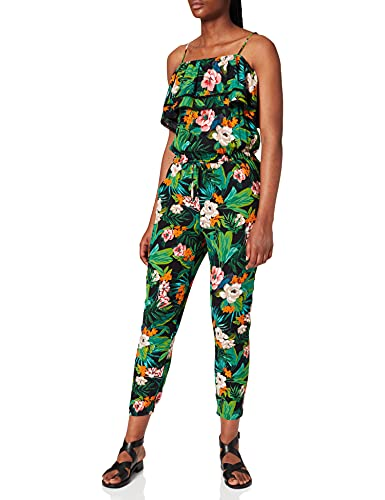 Mavi Damen Overall Jumpsuit, Schwarz (Black Tropical Printed 15903), Small von Mavi