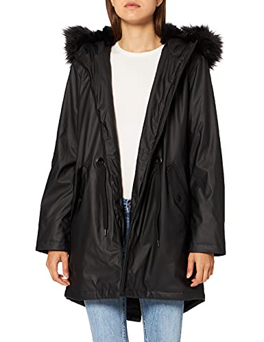 Mavi Damen Hooded Parka, Schwarz (Black 900), Medium von Mavi