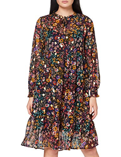 Mavi Damen Printed Dress Kleid, Black Colorful Abstract Folio Print, XS von Mavi