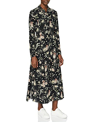 Mavi Damen Printed Dress Kleid, Black owl Print, S von Mavi