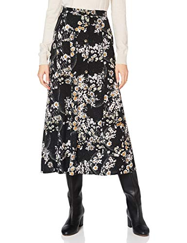 Mavi Damen Printed Skirt Rock, Almond Milk Flower Print, L von Mavi