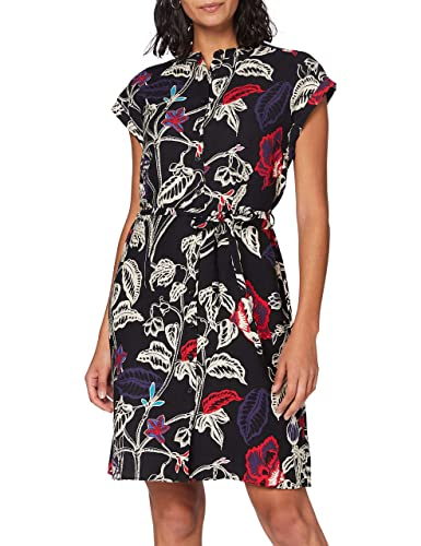 Mavi Damen Sleeveless Dress Kleid, Black Retro Flower Print, XS von Mavi